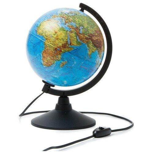 Фото - Глобус физико-политический с подсветкой,210мм глобус globen глобен d 210мм серия классик политический с подсветкой