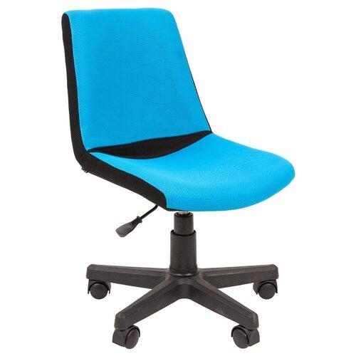 Фото - Компьютерное кресло Chairman Kids 115 детское, обивка: текстиль, цвет: черный/голубой компьютерное кресло chairman kids 101 детское обивка текстиль цвет монстры