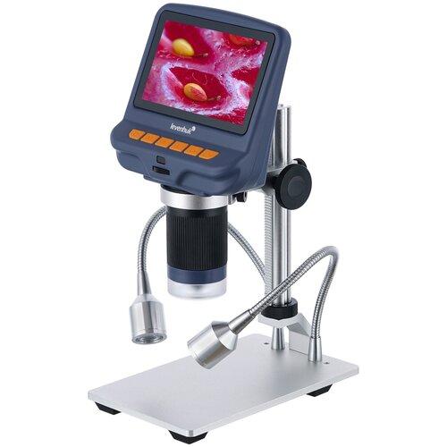 Фото - Микроскоп LEVENHUK DTX RC1 серебристый микроскоп кроматек mg10081 8 серебристый