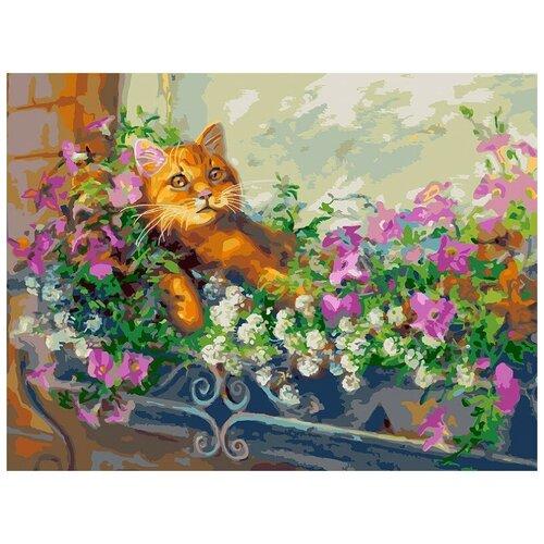 Фото - Белоснежка Картина по номерам Любимый кот на отдыхе 30х40 см (340-AS) белоснежка картина по номерам солнечный кот 30х40 см 297 as