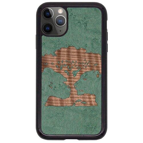 """Чехол T&C для iPhone 11 Pro (айфон 11 про) Silicone Wooden Case Wild series Магическое дерево (Клен птичий глаз - Секвойа)"""