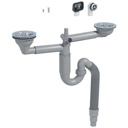 Двойной сифон для мойки PREVEX P-loc SS-PL2-D9CF5-SANT-01 сифон prevex для мойки 41k13929