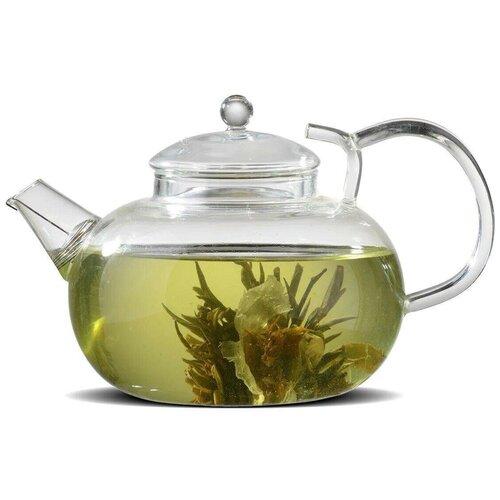 Фото - Tima Стеклянный заварочный чайник иван-чай 1000мл (пружина в носике) 1 л пароварка tima 1 секция м 1