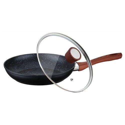 Фото - Сковорода Peterhof PH-25344-22, 22 см, с крышкой, черный сковорода rainstahl 9512 22rs fp 22 см с крышкой