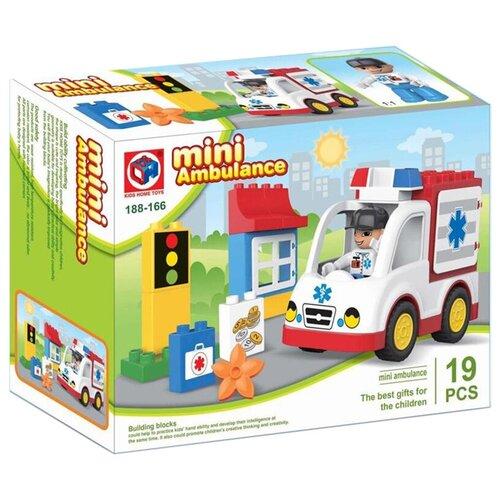 Конструктор Kids home toys 188-166 Mini Ambulance конструктор kids home toys happy farm 188 133