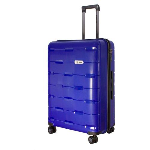 Фото - Чемодан PROFFI Tour Fashion L 98 л, синий чемодан proffi travel tour fashion 24 pp пластиковый средний 64 5х47х27 желтый