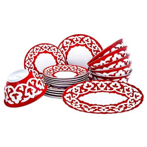 Столовый сервиз Красная Пахта, Turon porcelain, 19 предметов,