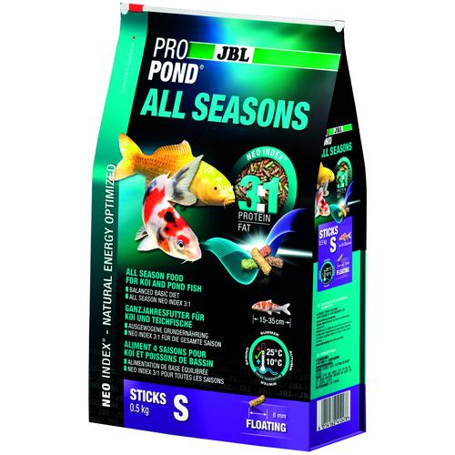 Фото - Сухой корм для рыб JBL ProPond All Seasons S, 3 л, 500 г сухой корм для рыб jbl novopleco 53 г
