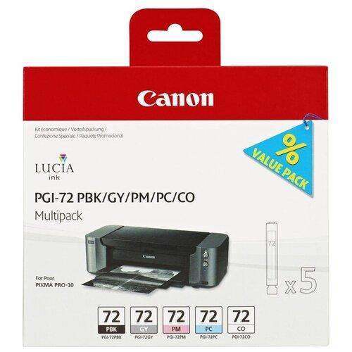 Фото - Набор картриджей Canon PGI-72 PBK/GY/PM/PC/CO (6403B007) набор картриджей canon pgi 29 mbk pbk dgy gy lgy co для pro 1 4868b018