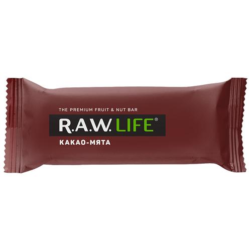 Фото - Фруктовый батончик R.A.W. Life без сахара Какао-Мята, 47 г фруктовый батончик r a w life без сахара кешью 47 г
