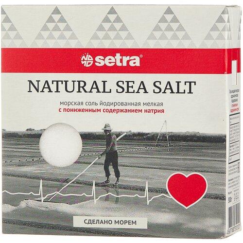 setra соль морская мелкая йодированная с пониженным содержанием натрия 500 г Setra Соль морская йодированная мелкая с пониженным содержанием натрия, 500 г