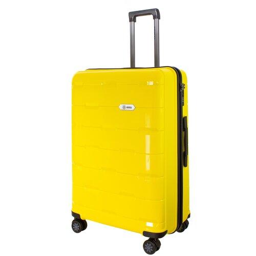 Фото - Чемодан PROFFI Tour Fashion L 98 л, желтый чемодан proffi travel tour fashion 24 pp пластиковый средний 64 5х47х27 желтый