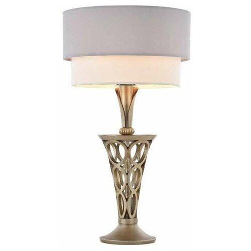 Лампа декоративная MAYTONI Lillian H311-11-G, E27, 60 Вт, цвет арматуры: золотой, цвет плафона/абажура: белый