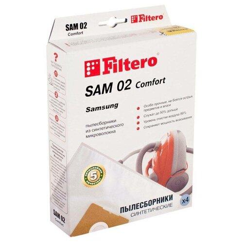 Фото - Filtero Мешки-пылесборники SAM 02 Comfort 4 шт. пылесборники filtero sam 02 4 samsung