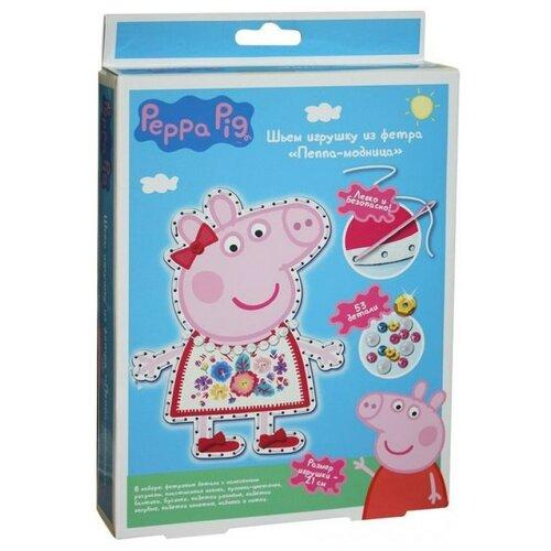 делай с мамой шьем игрушку из фетра том гадкий я РОСМЭН Набор для творчества Шьем игрушку из фетра Пеппа-модница (31085)