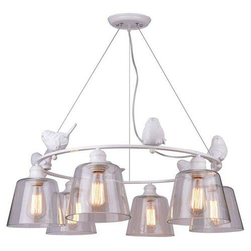 Люстра Arte Lamp Passero A4289LM-6WH, E27, 240 Вт подвесная люстра arte lamp a4289lm 6wh