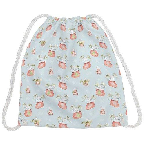 JoyArty Рюкзак-мешок Мышка 2020 bpa_185500, голубой/красный/белый joyarty рюкзак мешок радужные окошки bpa 207087 голубой