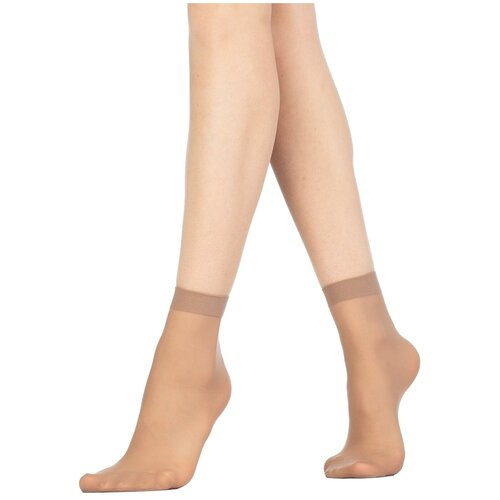Капроновые носки Golden Lady Mio 20 Den, 2 пары, размер 0 (one size), daino