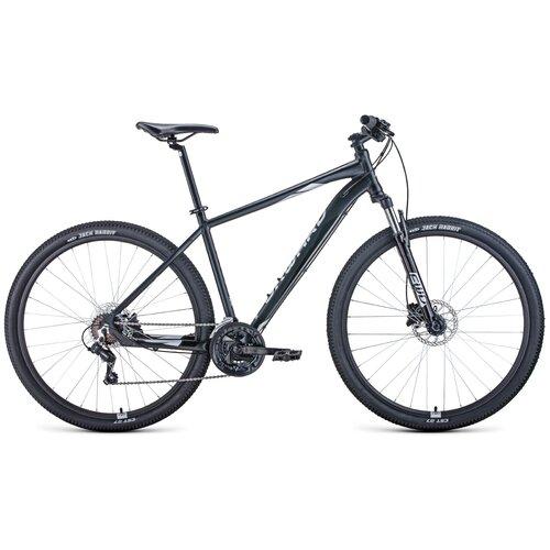 """Горный (MTB) велосипед FORWARD Apache 29 3.2 Disc (2021) черный/серый 17"""" (требует финальной сборки)"""