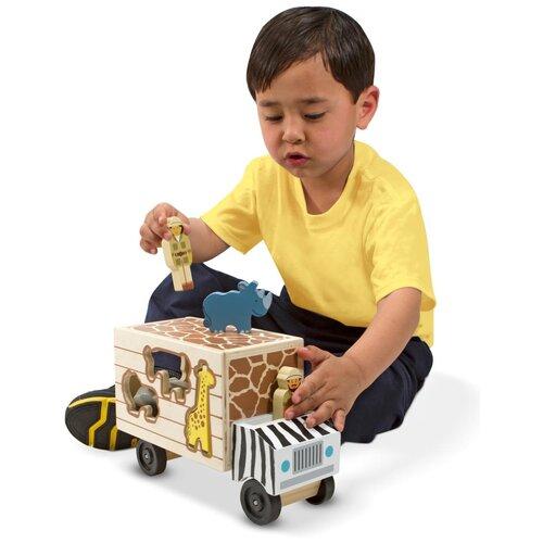Купить Классические игрушки Сортировщик-грузовик Сафари Melissa Doug 5180, Melissa & Doug, Машинки и техника
