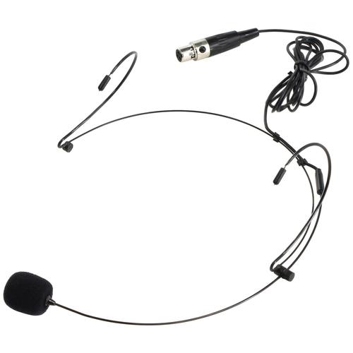 Микрофон конденсаторный головной NADY HM-20U + Mini-XLR connector 1м (черный)