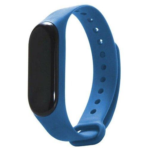 Gurdini Ремешок силиконовый для Xiaomi Mi Band 3 синий