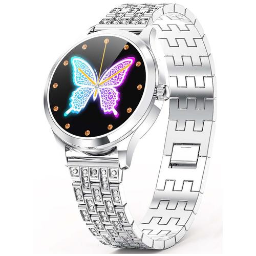 Умные часы LEMFO LW07 Crystal Series, серебристый