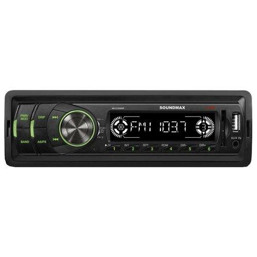 Фото - Автомагнитола SoundMAX SM-CCR3050F, черная автомагнитола soundmax sm ccr3050f черная
