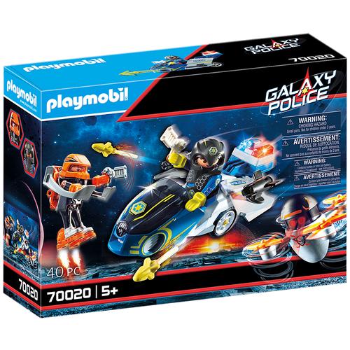 Купить Конструктор Playmobil Galaxy Police 70020 Полицейский байк, Конструкторы