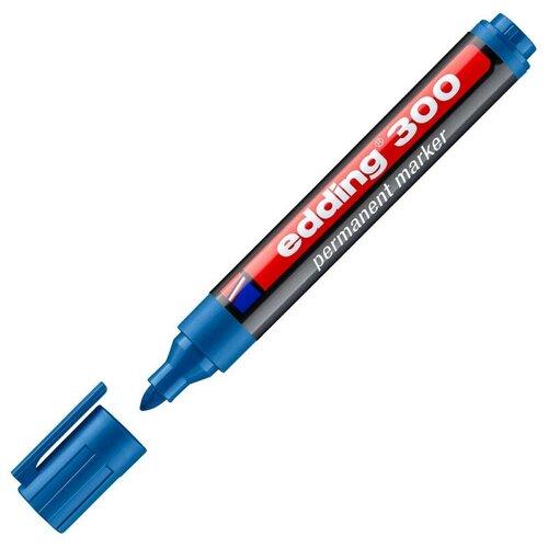 Купить Маркер перманентный EDDING 300/10 голубой 1, 5-3 мм кругл. наконечник 2 штуки, Маркеры
