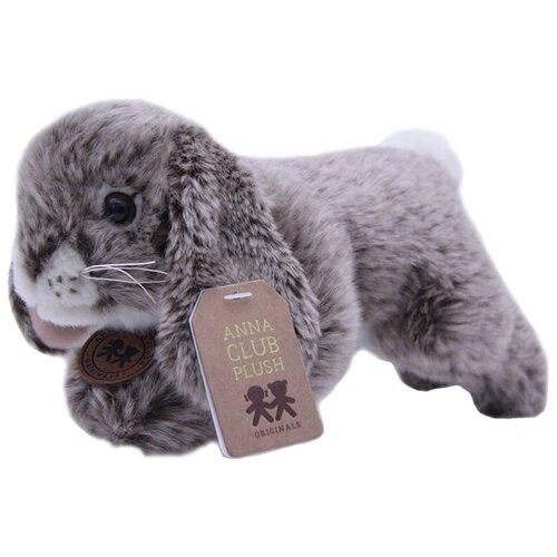 Мягкая игрушка Anna Club Plush Кролик серый лежащий 10 см