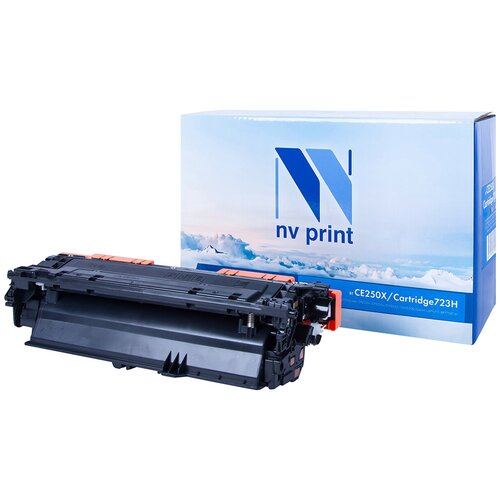 Картридж NV Print CE250X/723H Black для HP и Canon, совместимый