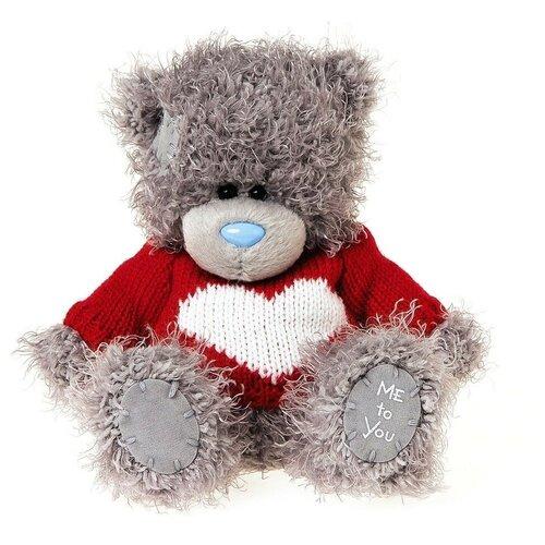Мягкая игрушка Me to you Мишка Тедди в красном свитере с сердцем 13 см
