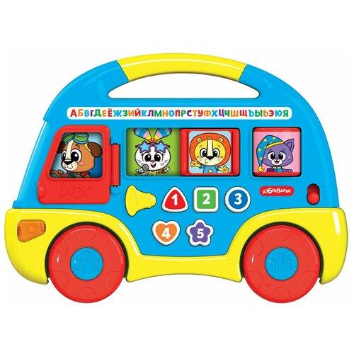 Купить Игрушка Музыкальный автобус Первые знания Синий, Азбукварик, Развивающие игрушки