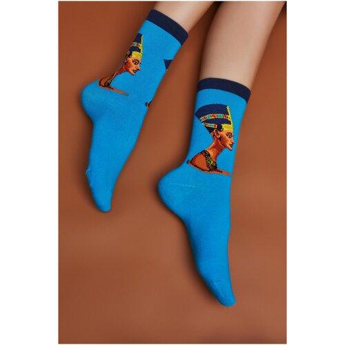 Носки Красная Жара (голубой; коричневый; бледно-желтый) 35-41