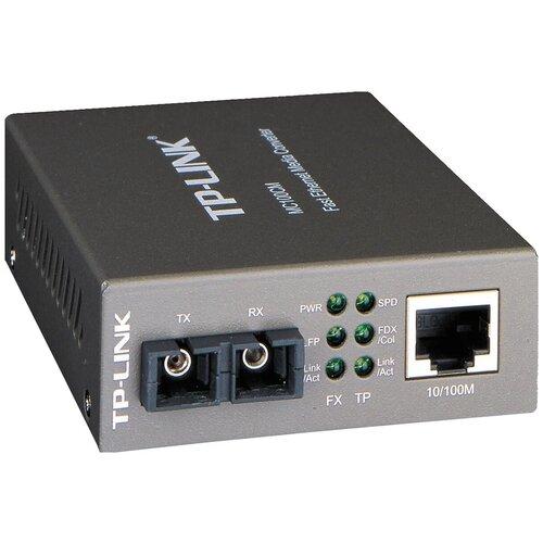 Фото - Медиаконвертер TP-Link MC100CM медиаконвертер tp link mc210cs 1000mbit rj45 1000mbit sc