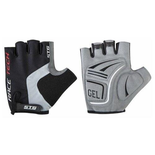 Перчатки STG, AI-03-176,unisex, летние,черные/серы