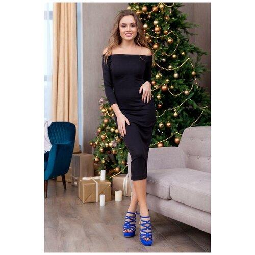 брюки ruxara ruxara mp002xw0f72l Черное платье с открытыми плечами RUXARA (7520, черный, размер: 44)