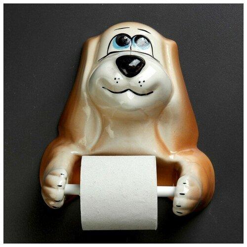 Фигурный держатель бумаги Собака 4020366 фигурный держатель бумаги ангел 50х13см
