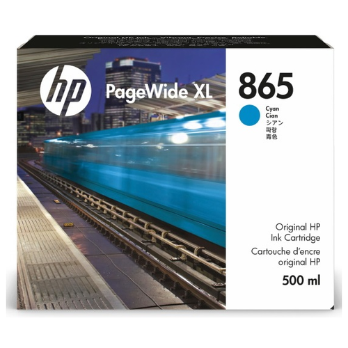 Фото - Cartridge HP 865 для PageWide XL 4200/5200, голубой, 500 мл контейнер для очистки hp 841 pagewide xl