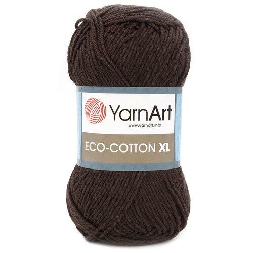 Купить Пряжа YarnArt 'Eco Сotton XL' 200г 220м (85% хлопок, 15% полиэстер) (777 темно-коричневый), 5 мотков