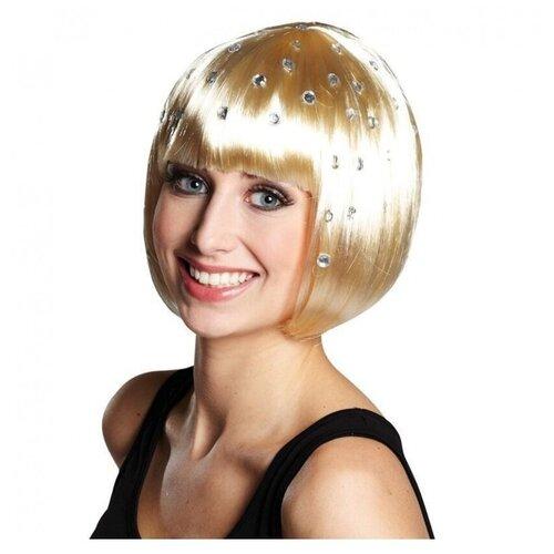 Купить Парик-каре со стразами блонд (11162), RUBIE'S
