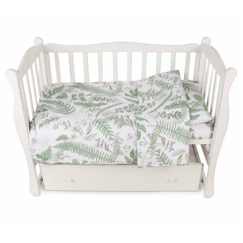 Комплект в кроватку 3 предмета AmaroBaby EXCLUSIVE Soft Collection Папоротники amarobaby комплект в кроватку exclusive soft collection папоротники 7 предметов белый зеленый