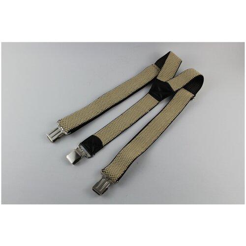 Фото - Подтяжки мужские Y, рифленые, цвет: бежевый подтяжки stilmark рифленые mono