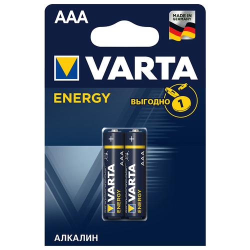 Фото - Батарейка VARTA ENERGY AAA/LR03 бл 2 батарейка varta energy d lr20 бл 2