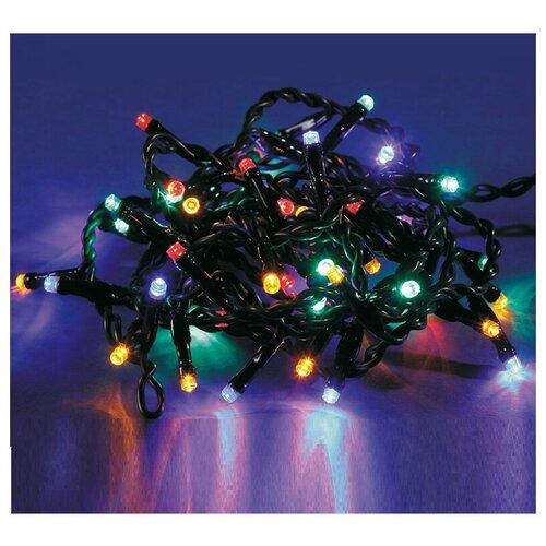 Электрогирлянда уличная светодиодная 120 ламп, многоцветный+мигание белым светом, 8 функций, 10м+5м (арт. 325649) недорого