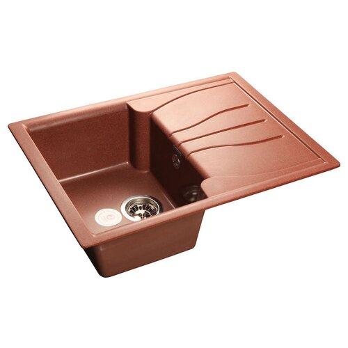 Фото - Врезная кухонная мойка 68 см GranFest Standart GF-S680L красный марс врезная кухонная мойка 47 5 см а гранит m 05 красный марс