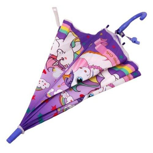 Зонт детский «Единорог» 80×80×65 см