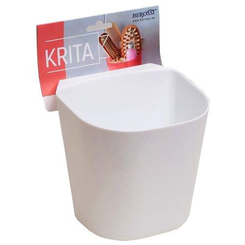 BEROSSI Полка навесная Krita малая 12.9х11.7х12.8 см снежно-белый