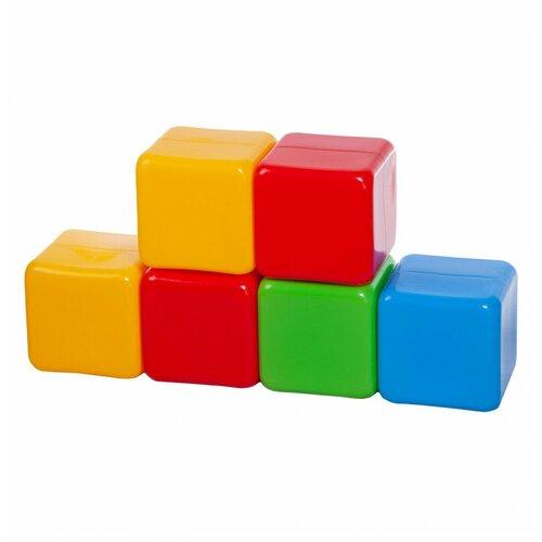 Кубики Юг-Пласт XL 6 деталей пластик Юг-Пласт
